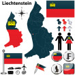 Stock Vector: Map of Liechtenstein