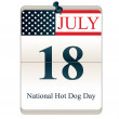 National Hot Dog Day — Stock Vector