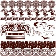 Set of ancient American ornaments — Stock Vector