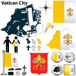 Map of Vatican City — Vettoriali Stock