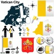 Royalty-Free Stock ベクターイメージ: Map of Vatican City