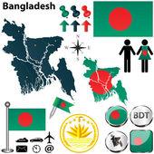 Map of Bangladesh — Stock Vector