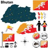 Map of Bhutan — Stock Vector
