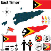 Map of East Timor — Stock Vector