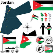 Map of Jordan — Stock Vector