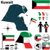 Map of Kuwait — Stock Vector