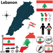 Map of Lebanon — Stock Vector