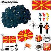 Map of Macedonia — Stock Vector