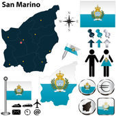 Map of San Marino — Stock Vector