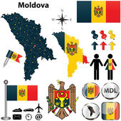Map of Moldova — Stock Vector