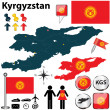 Map of Kyrgyzstan — Stock Vector