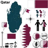 Map of Qatar — Stock Vector