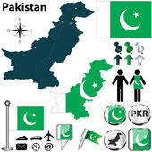 Map of Pakistan — 图库矢量图片