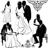 Wedding Pairs — Stock Vector