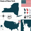 Map of New York — Stock Vector