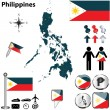 Map of Philippines — Stock Vector