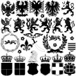 Heraldry Design Elements — Imagen vectorial