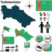 Map of Turkmenistan — Stockvektor