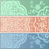 Banners with Islamic ornaments — Stock Vector