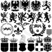 Heraldry Design Elements — Stock Vector