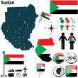 Map of Sudan — Stock Vector