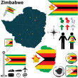 Map of Zimbabwe — Stock Vector