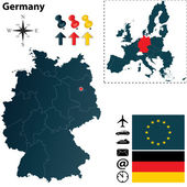 Map of Germany and European Union — Stock Vector