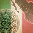 Background with Mayan calendar — Stock Photo