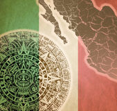 Background with Mayan calendar — Foto de Stock