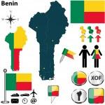 Постер, плакат: Map of Benin