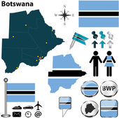Map of Botswana — Stock Vector