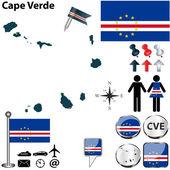 Map of Cape Verde — Stock Vector