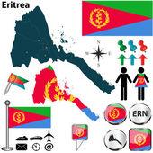 Map of Eritrea — Stock Vector