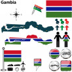 Постер, плакат: Map of Gambia