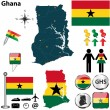 Map of Ghana — Stock Vector