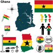 Map of Ghana — Stock Vector #30748881