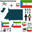 Stock Vector: Map of Equatorial Guinea