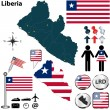 Map of Liberia — Stock Vector