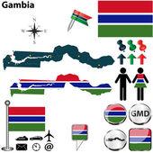 карта гамбии — Cтоковый вектор