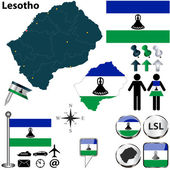 Map of Lesotho — Stock Vector