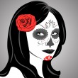 Stock Vector: Sugar Skull Lady