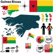 Map of Guinea Bissau — Stock Vector