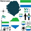 Map of Sierra Leon — Stock Vector
