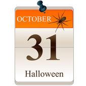 Halloween calendar — ストックベクタ