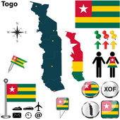 Map of Togo — Stock Vector