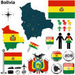 Постер, плакат: Map of Bolivia