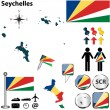 Map of Seychelles — Stock Vector