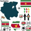Map of Suriname — Stock Vector