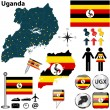 Map of Uganda — Stock Vector