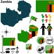 Map of Zambia — Stock Vector